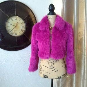 Xhilaration Jackets & Coats - Xhilaration faux fur jacket sz 10/12